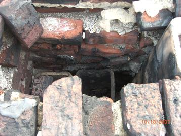 deteriorated chimney